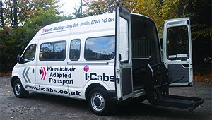 Minibus with wheelchair lift